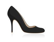 Schuh der schwarzen Frauen. Lizenzfreies Stockfoto