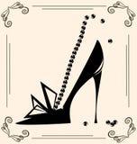 Schuh der Weinlesefrau Lizenzfreie Stockfotografie