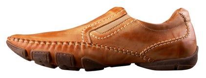 Schuh des Brown-Mannes Lizenzfreie Stockfotografie