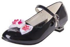 schuh die Schuhe des Kindes auf einem Hintergrund Stockfoto