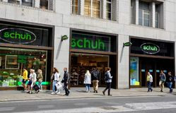 Schuh store in London stock photos