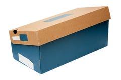 Schuh-Kasten auf Weiß Stockbild