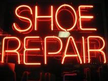 Schuh-Reparatur stockbild