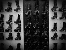 Schuh-Schuhleder-Metallmodedesign der Frauen Lizenzfreie Stockfotos