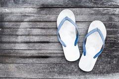 Schuh, weiße Sandale stockbild