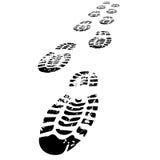 Schuhabdrücke, die vorwärts gehen lizenzfreie abbildung