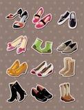 Schuhaufkleber Lizenzfreies Stockbild