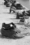 ` Schuhe auf dem Donau-` Denkmal, Budapest, Ungarn lizenzfreie stockbilder