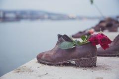 Schuhe auf Donau, Budapest lizenzfreies stockbild