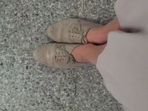 Schuhe auf Plattform Stockbilder