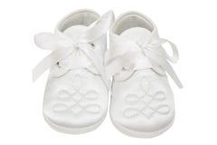 Schuhe auf weißem Hintergrund Stockfotografie