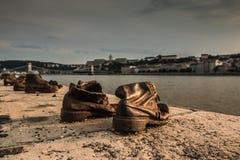 Schuhe in Budapest Lizenzfreies Stockbild