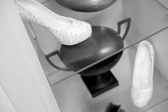 Schuhe der Braut Stockbild