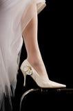 Schuhe der Braut. Stockbild