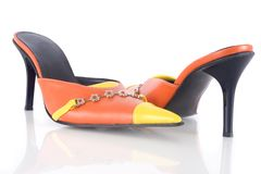 Schuhe der eleganten Frau Lizenzfreie Stockfotografie