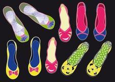 Schuhe der Frauen lizenzfreie abbildung