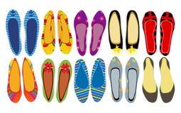 Schuhe der Frauen Stockfotografie