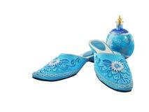 Schuhe der Frauen getrennt auf Weiß Lizenzfreies Stockbild