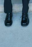 Schuhe der Geschäftsmänner Stockfoto