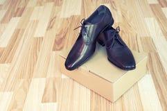 Schuhe der ledernen Männer Stockbild