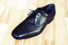 Schuhe der ledernen Männer Lizenzfreie Stockfotos