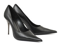 Schuhe der schwarzen Frau Lizenzfreie Stockbilder