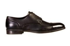 Schuhe der schwarzen Männer Lizenzfreies Stockfoto