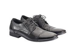 Schuhe der schwarzen Männer Lizenzfreie Stockfotografie
