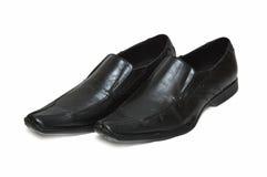 Schuhe der schwarzen Männer stockfoto