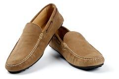 Schuhe der Sämischleder-Leder-Männer Stockfoto