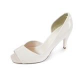 Schuhe der weißen Frauen Stockfoto