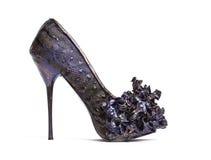 Schuhe des Lavendel-hohen Absatzes Stockbild