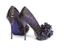 Schuhe des Lavendel-hohen Absatzes Lizenzfreie Stockfotografie