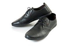 Schuhe des schwarzen Mannes Lizenzfreie Stockfotografie