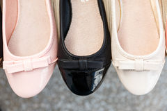 Schuhe in einem System Lizenzfreies Stockfoto