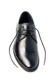 Schuhe eines Mannes, wenn die Spitzee gelöst sind Stockfoto