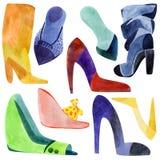 Schuhe eingestellt Stockfoto