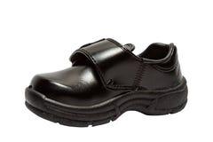 Schuhe für Kinder. Schwarzer Schuh Stockfoto