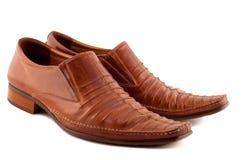 Schuhe getrennt auf Weiß. Lizenzfreie Stockbilder