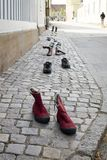 Schuhe mögen in Folge gehen Stockfotos