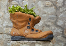 Schuhe mit Blumen Lizenzfreie Stockfotos