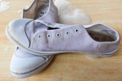 Schuhe mit dem Schäumen Lizenzfreies Stockbild