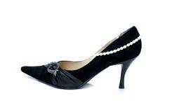Schuhe mit Perlen Stockfotos