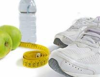 Schuhe und Diät Stockbild