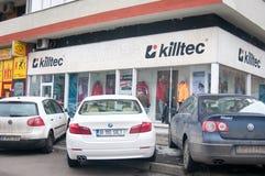 Schuhe und Kleidung Kiltec Stockfotografie