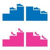 Schuhe und Treppen Stockfotografie