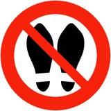 Schuhe verboten Lizenzfreies Stockbild