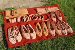 Schuhe vom Leder Stockfoto