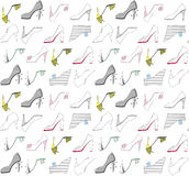 Schuhe von verschiedenen Farben Lizenzfreie Stockfotos