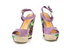 Schuhsandalen der Frau Stockbilder